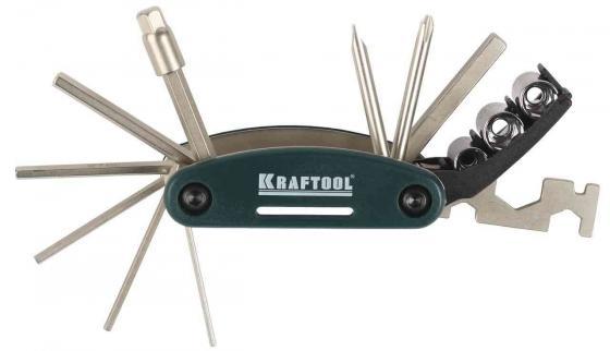 Набор инструментов Kraftool для обслуживания велосипеда 16-в-1 26182-H16 набор инструментов kraftool для обслуживания велосипеда 16 в 1 26182 h16