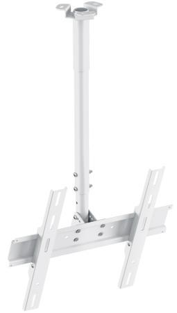 Кронштейн Holder PR-101-W белый для ЖК ТВ 32-65 потолочный фиксированный VESA 400x400 до 60 кг кронштейн holder pr 103 w белый для проекторов потолочный до 20 кг