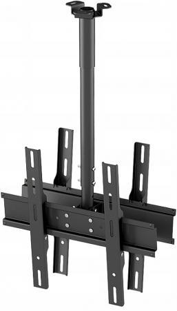 Кронштейн Holder PR-102-B черный для ЖК ТВ 32-65 потолочный фиксированный VESA 400x400 до 90 кг кронштейн holder pr 102 w белый для жк тв 32 65 потолочный фиксированный vesa 400x400 до 90 кг