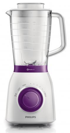 Блендер стационарный Philips HR2163/00 600Вт белый фиолетовый блендер philips hr1628 00 погружной белый красный
