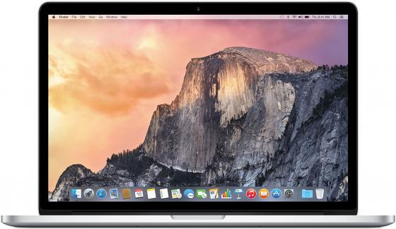Ноутбук Apple MacBook Pro 15.4 2880x1800 Intel Core i7 256 Gb 16Gb Intel Iris Pro Graphics серебристый Mac OS X MJLQ2RU/A ноутбук apple macbook core m3 1 2ghz 12 8gb ssf256gb hdg615 mac os x gray mnyf2ru a