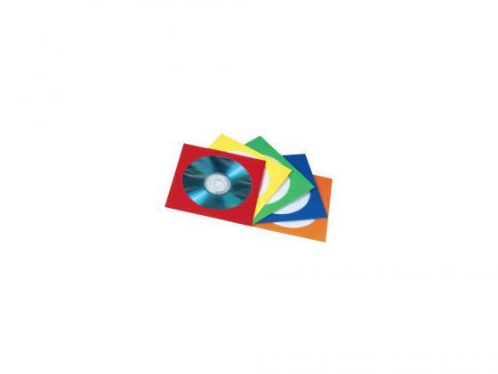 Конверты Hama для CD/DVD бумажные с прозрачным окошком 5 цветов 25шт H-78367 конверты hama для 2 cd dvd бумажные с прозрачным окошком заклеивающиеся 50шт h 83985