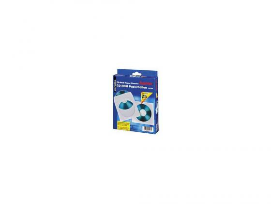все цены на Конверты Hama для CD/DVD бумажные с прозрачным окошком белый 25шт H-51060