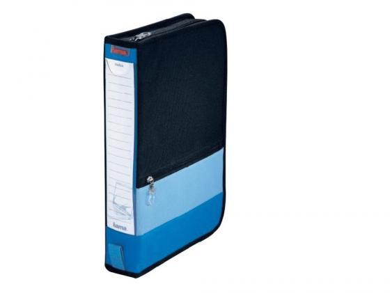 Портмоне HAMA Office для 64 CD нейлон черно-синий H-84145