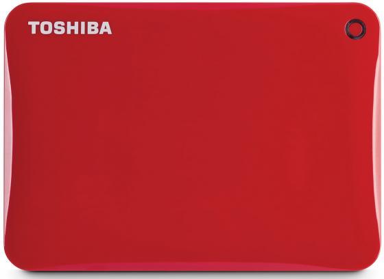 Внешний жесткий диск 2.5 USB3.0 500Gb Toshiba Canvio Connect II HDTC805ER3AA красный внешний жесткий диск 2 5 usb3 0 500gb toshiba canvio connect ii hdtc805ew3aa белый