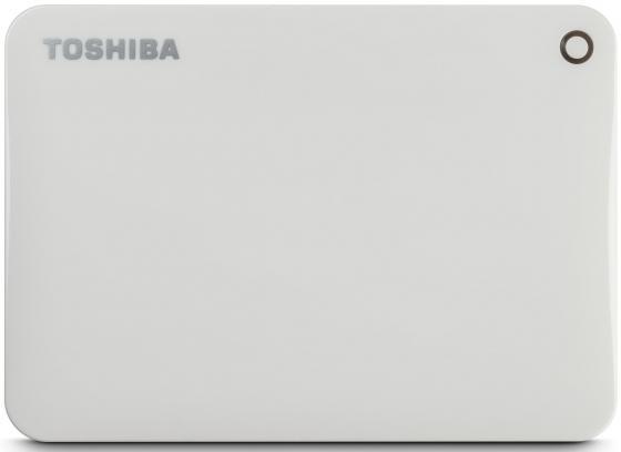 Внешний жесткий диск 2.5 USB3.0 500Gb Toshiba Canvio Connect II HDTC805EW3AA белый