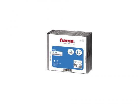 Коробка HAMA для 1 CD прозрачный/черный 10шт H-51275 hama h 108727 для 10 46 черный