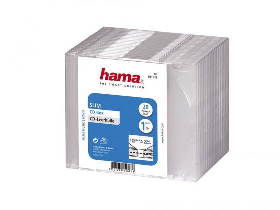Фото - Коробка HAMA для 1 CD прозрачный 20шт H-11521 упаковочная коробка cd envenlope f0097