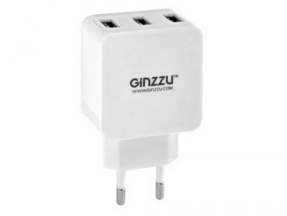Сетевое зарядное устройство Ginzzu GA-3315UW 5В/3.1A белый