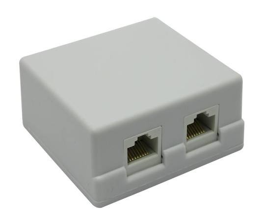 Розетка кат.5E внешняя 2xRJ-45 5bites LY-SB02-A