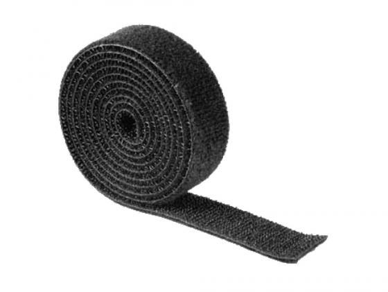 Купить Набор стяжек-липучек Hama H-20543 в рулоне 100см нейлон черный, Набор стяжек на липучках