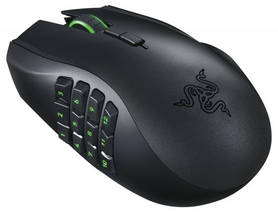 Мышь беспроводная Razer Naga Epic Chroma чёрный USB + Bluetooth RZ01-01230100-R3G1 цена и фото
