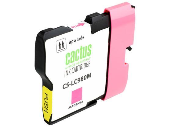 Фото - Картридж Cactus LC-980M для Brother DCP-145C/165C MFC-250C/290C пурпурный 260стр картридж brother lc 980 m пурпурный