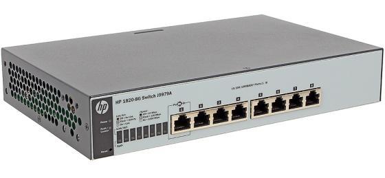 Коммутатор HP 1820-8G управляемый 8 портов 10/100/1000Mbps J9979A коммутатор hp 1850 управляемый 48 портов 10 100 1000mbps jl171a