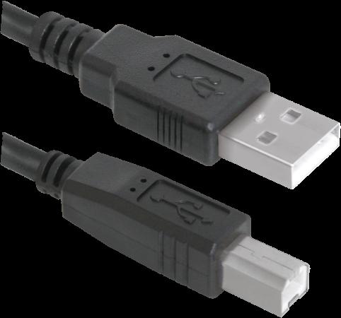 Фото - Кабель USB 2.0 AM-BM 1.8м Defender USB04-06p.bag 83763 кабель defender usb usb usb04 06 1 8 м черный