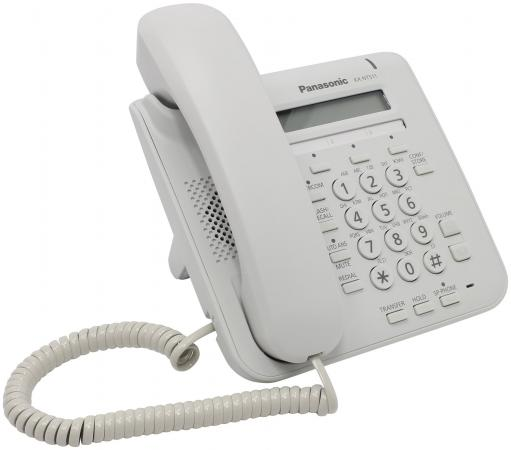 Телефон IP Panasonic KX-NT511PRUW белый телефон ip panasonic kx nt546rub черный