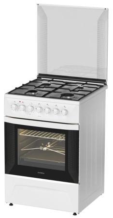 Комбинированная плита Дарина 1D KM141 308 W белый газовая плита дарина 1d gm141 007w 1d gm141 007w