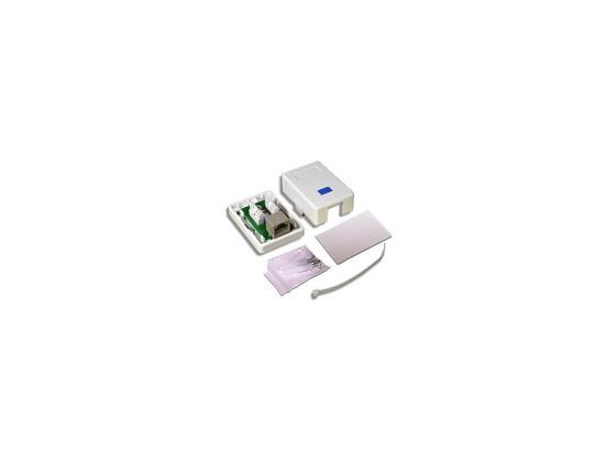 Розетка Lanmaster TWT-SM1-45-WH настенная 1 порт RJ-45 категории 5е UTP белый розетка lanmaster телефонная настенная 1 порт 6p4c винтовая белый twt ss1 12 wh