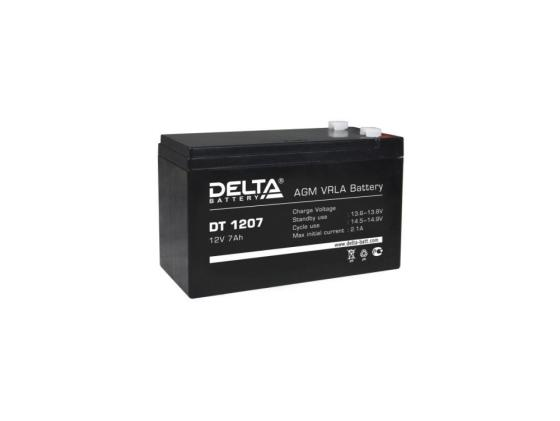 Батарея Delta DT 1207 7Ач 12B new original dvp48eh00r3 delta plc eh3 series 100 240vac 24di 16do relay output