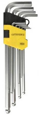 Набор ключей Stayer MASTER имбусовые 9шт 2741-H9-2 набор ключей stayer master 9шт 2743 h9