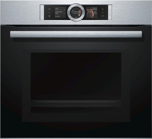 Электрический шкаф Bosch HMG656RS1 серебристый HMG656RS1 цена и фото