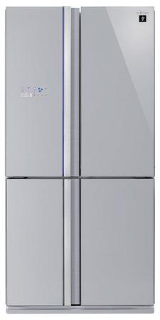 Холодильник Side by Side Sharp SJ-FS97VSL серебристый цена и фото