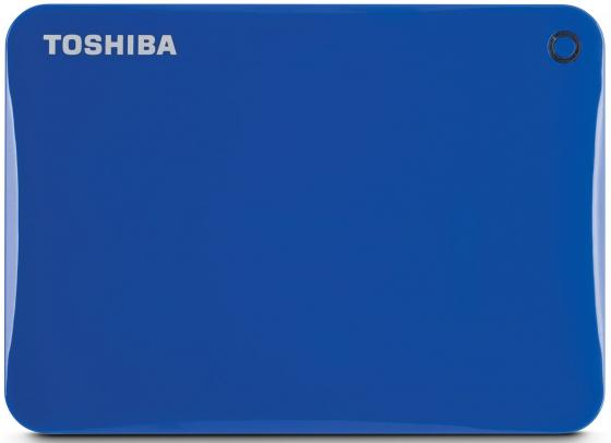 Внешний жесткий диск 2.5 USB3.0 2Tb Toshiba Canvio Connect II HDTC820EL3CA голубой внешний жесткий диск toshiba 2tb canvio connect ii hdtc820ew3ca
