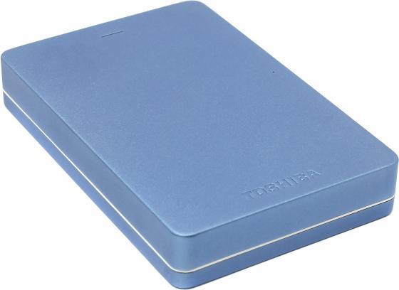 Внешний жесткий диск 2.5 USB3.0 2Tb Toshiba Canvio Alu HDTH320EL3CA голубой