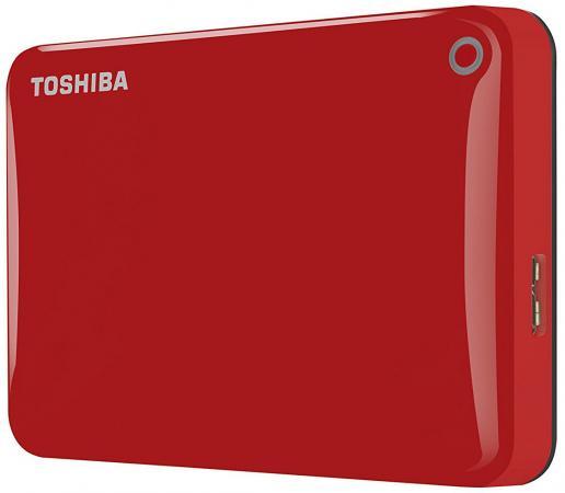 """купить Внешний жесткий диск 2.5"""" USB3.0 1Tb Toshiba Canvio Connect II HDTC810ER3AA красный по цене 4480 рублей"""