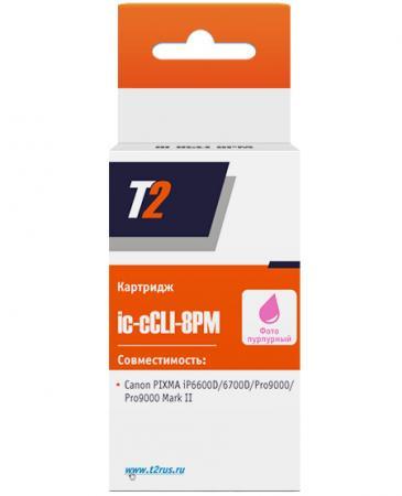 Картридж T2 IC-CCLI-8PM для Canon PIXMA iP6600D пурпурный 360стр картридж t2 ic ccli 8c для canon pixma ip4200 4300 5200 pro9000 mp500 600 голубой