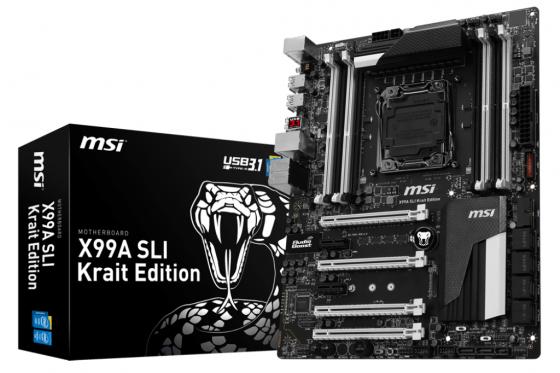 Материнская плата MSI X99A SLI Krait Edition Socket 2011-3 X99 8xDDR4 4xPCI-E 16x 2xPCI-E 1x 10xSATAIII ATX Retail