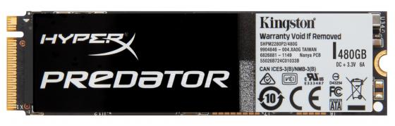 Твердотельный накопитель SSD M.2 480 Gb Kingston Predator PCIe SSD Read 1100Mb/s Write 910Mb/s PCI-E SHPM2280P2/480G ssd kingston predator pcie shpm2280p2h 480g