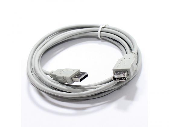 Фото - Кабель удлинительный USB 2.0 AM-AF 3.0м VCOM Telecom серый TC6936-3MO-GY переходник usb 2 0 af af vcom vad7901 ca408