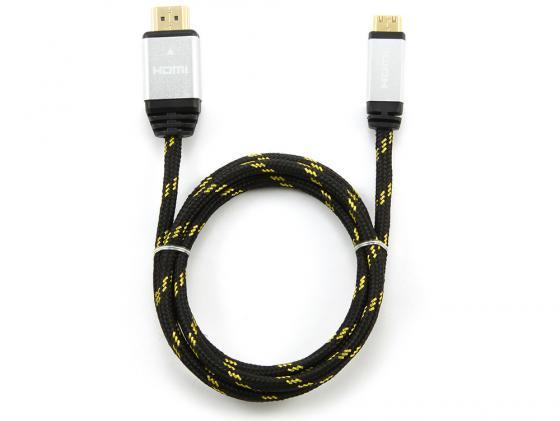 Кабель HDMI-mini HDMI 1.0м Konoos KCP-HDMICnbk нейлоновая оплетка черный аксессуар kupo kcp 101cb кронштейн