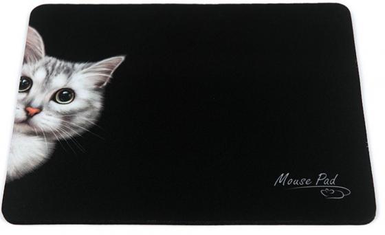 Коврик для мыши Dialog PM-H15 черный с рисунком Cat цена и фото