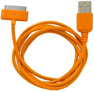 Кабель CBR Human Friends Super Link Rainbow C Orange USB 1м для iPhone 3G 4 iPad 1 2 3 iPod 5 Lightning 30-pin оранжевый CB 273 встраиваемая микроволновая печь hansa amg20bfh 700 вт чёрный