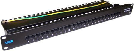 Патч-панель Lanmaster TWT-PP25TEL45 патч панель lanmaster twt pp25tel45 19 1u 25xrj 12 utp