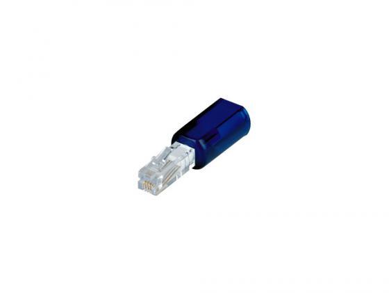 Адаптер Hama H-44846 для телефонной трубки анти-скручиватель антанглер прозрачный синий
