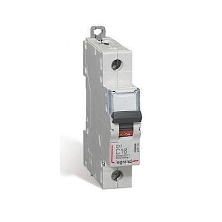 Автоматический выключатель Legrand DX3 10kA/16kA тип C 1П 16А 409114 автоматический выключатель legrand dx3 6ka 10ка тип c 1п n 16а 407742