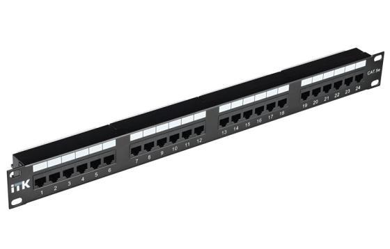 Патч-панель ITK PP24-1UC5ES-D05 1U 24 порта кат.5Е STP IDC Dual 1u chassis 420mm long can be used for idc routers 1u servers