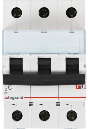 Автоматический выключатель Legrand DX3-E 6000 6кА тип C 3П 40А 407295 автоматический выключатель legrand dx3 e 6000 6ка тип c 3п 40а 407295