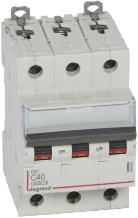 Автоматический выключатель Legrand DX3 6000 10кА тип C 3П 40А 407863 выключатель автоматический tdm ва47 100 4р 50а 10ка с sq0207 0085