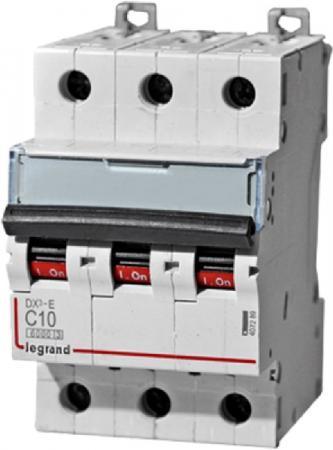 Автоматический выключатель Legrand DX3-E 6000 6кА тип C 3П 10А 407289 автоматический выключатель legrand dx3 e 6000 6ка тип c 3п 40а 407295