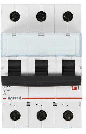 Автоматический выключатель Legrand TX3 6000 тип C 3П 32А 404059 выключатель автоматический модульный legrand 2п c 32а 6ка tx3 404045