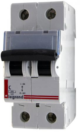 Автоматический выключатель Legrand TX3 6000 тип C 2П 20А 404043 выключатель автоматический модульный legrand 2п c 32а 6ка tx3 404045