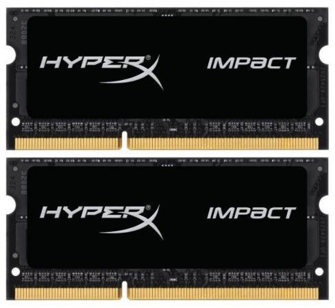Оперативная память для ноутбука 16Gb (2x8Gb) PC3-15000 1866MHz DDR3 SO-DIMM CL11 Kingston HX318LS11IBK2/16 оперативная память для ноутбуков so ddr3 16gb 2x8gb pc17000 2133mhz kingston cl11 hx321ls11ib2k2 16 hyperx impact black