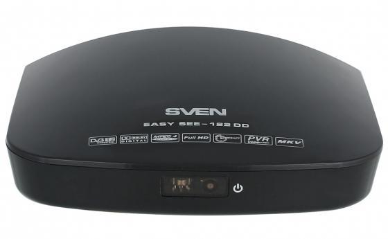 Тюнер цифровой DVB-T/T2 Sven EASY SEE-122 DD черный