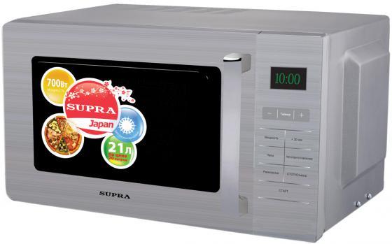 Микроволновая печь Supra MWS-2103SS 21 л серебристый микроволновая печь supra mws 2103ss