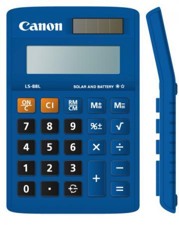 Калькулятор Canon LS-88L-BL 8 разрядов бухгалтерский синий калькулятор canon as 888 bl as 888 bl