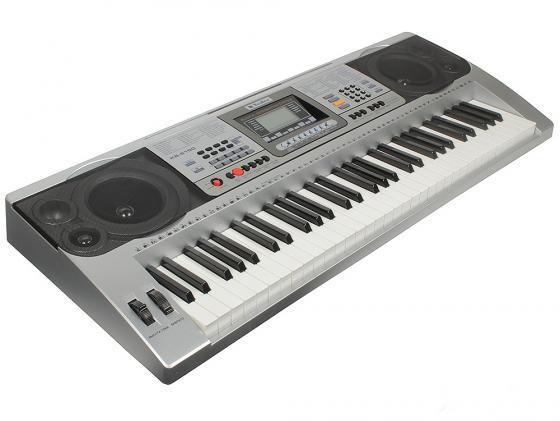 Синтезатор Tesler KB-6190 61 клавиша USB серебристый синтезатор yamaha kb 90 61